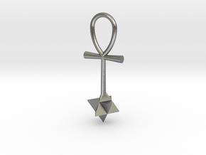 Quantum energy pendant in Natural Silver