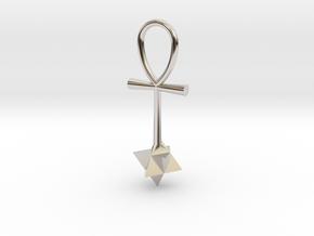 Quantum energy pendant in Rhodium Plated Brass