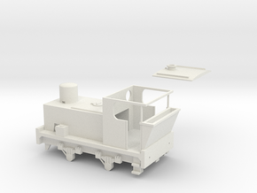 00 Scale 100hp (Pre-War) Sentinel Shunter in White Natural Versatile Plastic