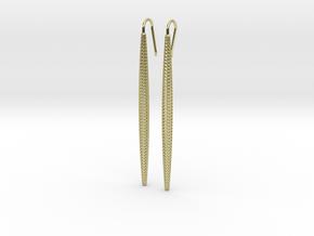 D-STRUCTURA Long. Elegant Earrings in 18k Gold Plated Brass