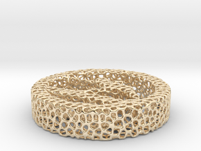 voronoi in 14k Gold Plated Brass