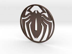 Tsuba spidey, thank you Stan , by Stef, and Pascal in Polished Bronze Steel