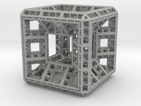 Fractal Hypercube Pendant in Aluminum