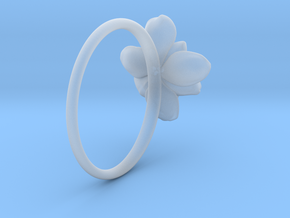 Wild Rose Ring in Smooth Fine Detail Plastic: 5 / 49