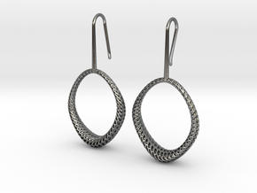 D-STRUCTURA IRIS Earrings. Structured Chic in Polished Silver
