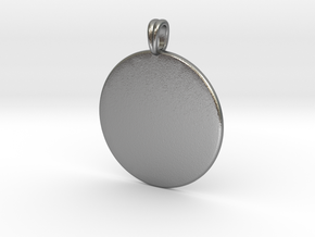 Initial charm jewelry pendant in Natural Silver