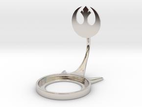 Star Wars Rebellion in Rhodium Plated Brass