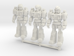 Diaclone Squad, at attention 35mm Minis in White Natural Versatile Plastic