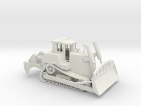 1/87 Scale Caterpillar D9 Bulldozer in White Natural Versatile Plastic