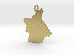 Butte County Pendant in Natural Brass