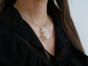 """""""head to head, heart to heart"""" STELLAR, pendant in White Strong & Flexible"""