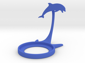 Animal Dolphin in Blue Processed Versatile Plastic