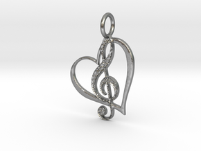 Love Note in Natural Silver