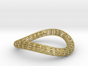 TORUS NEW Silver 1-3.-smooth in Natural Brass