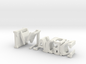 3dWordFlip: Magic/Illusion in White Natural Versatile Plastic