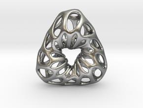 Prescious Structure Soft, Pendant. in Natural Silver