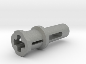 Toy Handle: Cross Hole in Gray Professional Plastic