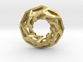 STRUCTURA 360 Sharp Edge, Pendant. Sharp Chic in Natural Brass