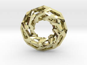 STRUCTURA 360 Sharp Edge, Pendant. Sharp Chic in 18K Gold Plated