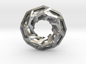 STRUCTURA 360 Sharp Edge, Pendant. Sharp Chic in Natural Silver