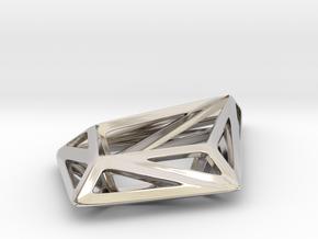 HIDDEN HEART STRUCTURA, Pendant. in Platinum