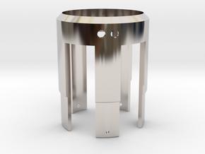 Rudy's HERO V3 LED Holder in Rhodium Plated Brass