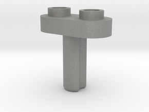 Toy Handle: 1x2 with Holes in Gray Professional Plastic