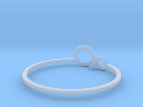 infinity ring (1) in Smooth Fine Detail Plastic