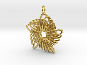 5 Point Nautilus Rings - 4cm in Polished Brass