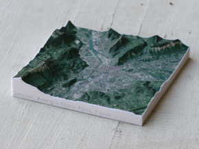 Grenoble, France, 1:150000 in Full Color Sandstone