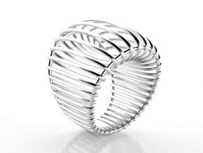 Structure ring. in Natural Silver: 6.25 / 52.125