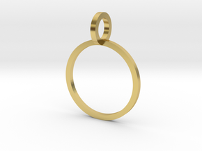 Charm Ring 13.21mm in Polished Brass