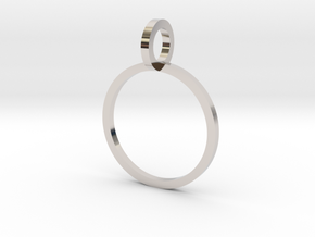 Charm Ring 13.21mm in Platinum