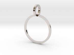 Charm Ring 14.05mm in Rhodium Plated Brass