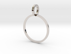 Charm Ring 14.56mm in Platinum