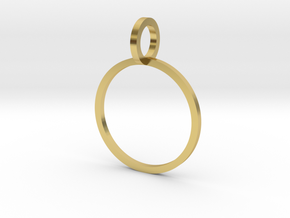 Charm Ring 14.86mm in Polished Brass