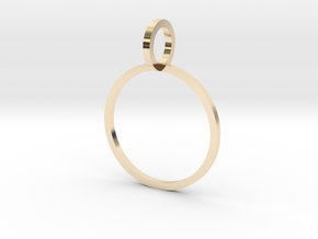 Charm Ring 15.70mm in 14k Gold Plated Brass
