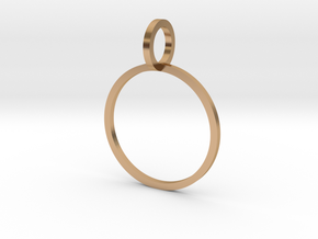 Charm Ring 16.00mm in Polished Bronze