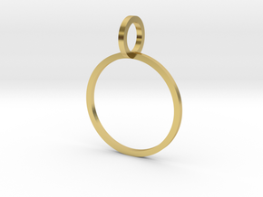 Charm Ring 16.00mm in Polished Brass