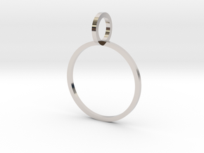 Charm Ring 16.30mm in Rhodium Plated Brass