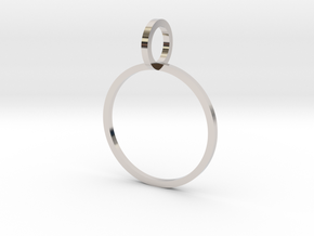 Charm Ring 16.51mm in Rhodium Plated Brass