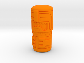 Tiki Figure in Orange Processed Versatile Plastic