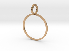 Charm Ring 17.35mm in Polished Bronze