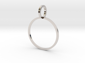Charm Ring 17.35mm in Rhodium Plated Brass
