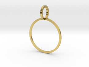Charm Ring 17.75mm in Polished Brass