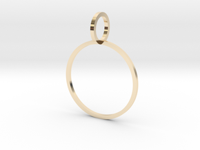 Charm Ring 18.89mm in 14k Gold Plated Brass