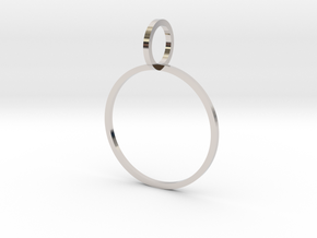 Charm Ring 19.84mm in Rhodium Plated Brass