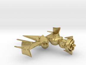 """Cowboy Bebop"" Swordfish II Ship  in Natural Brass: Small"
