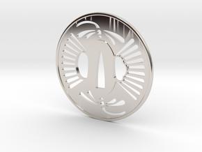 Tsuba tombo in Platinum