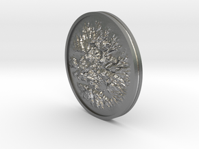 Sutter Buttes Coin in Natural Silver